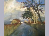 Alayne Smith - Approaching Bankshill - oil