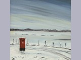 Alan Brockbank - Christmas Post - oil on canvas