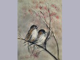 Melanie Peacham - Fledglings - w/c and ink