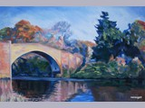 Irene Gall - Nith Bridge - oil