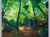 Neil Cockayne - Nithside walk at Friars Carse - acrylic