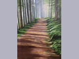 Carol Reece - Galloway Woodland Walk - acrylic