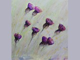 Martine Berlemont - Thistles - watercolour